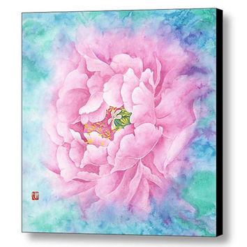 3 Piece Set Art -Canvas Art Print- Flower Painting-Wall art