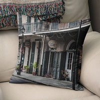 New Orleans French Quarter Throw Pillow Cover- 5 Sizes