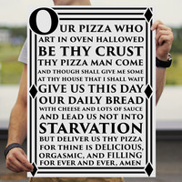 The Pizza Prayer Posters – six 3