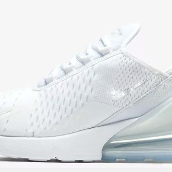 Nike Air Max 270 + Crystals - White