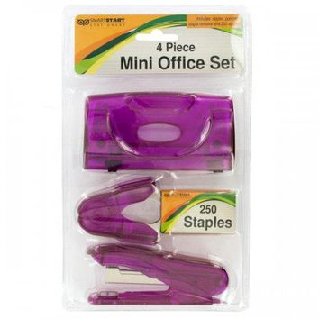 Mini Office Set With Stapler & Hole Punch