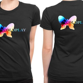 Coldplay Logo Colorize 2 Sided Womens T Shirt