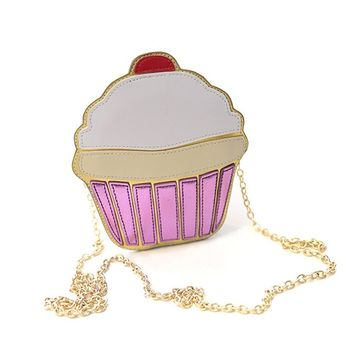 LUI SUI Yummy Famous Cupcake Design Woman Cross-body Bag Attractiv Party Small Shoulder Bag Exquisite Handbag Cupcake …