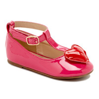 QQ Girl Fuchsia Heart Dolly T-Strap Mary Jane | zulily