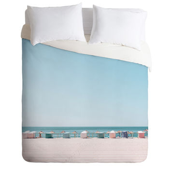 Hello Twiggs Beach Huts Duvet Cover