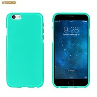 Slim Fit Light Weight 2 piece Snap On Non-Slip Matte Hard Rubber Coated Rubberized Premium Protection Case Cover For Iphone 6 (4.7 inch) - Mint - Retail Packaging