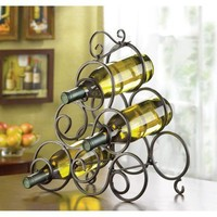 Dramatic Scroll Work Wine Rack