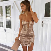 Short Sexy Sequins Party Dress