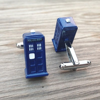 Dr. Who Police Box Cufflinks