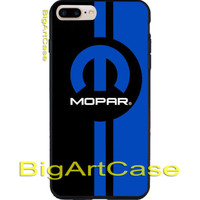 New Hot Mopar Blue Stripe Logo CASE COVER iPhone 6s/6s+7/7+8/8+,X and Samsung