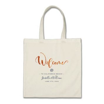 Modern Chic Gold Marble Favor Tote Bag