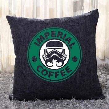 Imperial Coffee, Star Wars Throw Pillow Cover