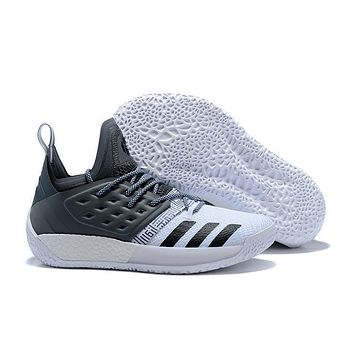 Adidas Harden Vol. 2 White/gray Basketball Shoes Us7 11.5