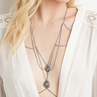 Faux Stone Charm Body Chain