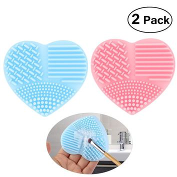 PIXNOR - Silicone Heart-Shaped Makeup Brush Cleaner