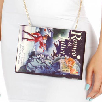 Romeo And Juliet Book Clutch