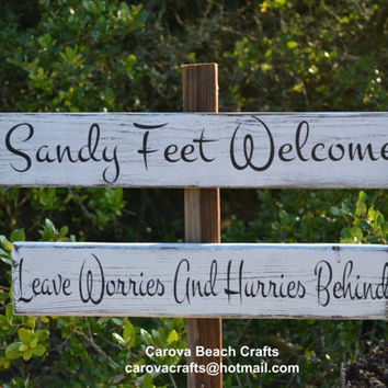 Beach Wedding - Beach Sign - Beach Decor - Beach House - Directional - Outdoor - Yard - Painted, No Vinyl - Reclaimed Wood - Rustic