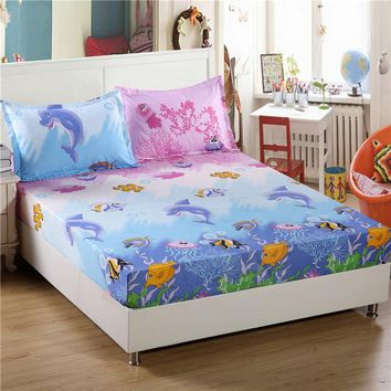 Fitted Printed Bed Sheet elastic corners