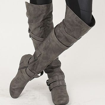Over the Knee Boots for Miles in Grey