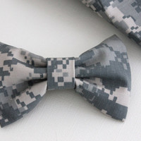Army Hair Bow, ACU, Camo, Military