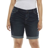 Apt. 9 Cuffed Jean Bermuda Shorts - Women's Plus