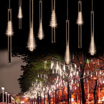 30CM 50CM 240LED Waterproof Meteor Shower Rain Tube LED String Light Christmas Light Wedding Outdoor LED Tubes with connector