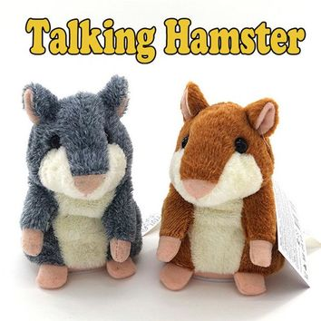 Stuffed Toys Hot Speak Talking Record Nod Hamster Mouse Plush Kids Toy Gifts Stress Reliever Toy DropShipping, Free Ship ,XM30