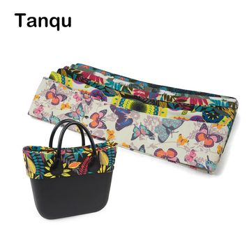 TANQU New summer Classic Mini Floral Fabric Trim cotton fabric Thin Decoration for Obag Handbag O Bag Body for summer autumn