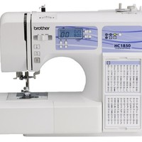 Brother HC1850 Computerized Sewing and Quilting Machine with 130 Built-in Stitches, 9 Presser Feet, Sewing Font, Wide Table, and Instructional DVD