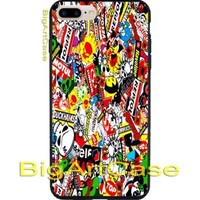 Generic Sticker Bomb Automotive CASE COVER iPhone 6s/6s+7/7+8/8+,X and Samsung