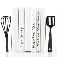 Bookends Spatula and whisk these bookends will hold your favorite cookbooks laser cut for precisions