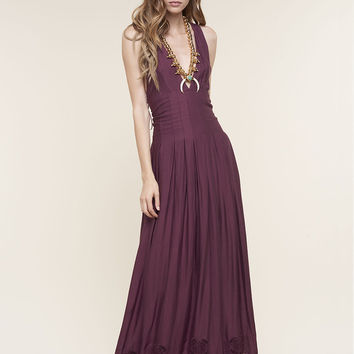 The Jetset Diaries Verona Maxi Dress Bordeaux