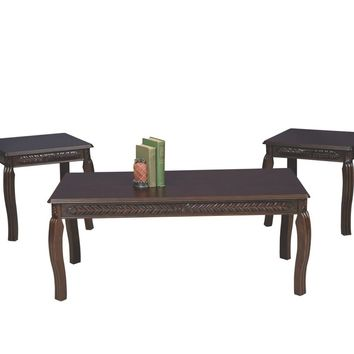 Serta 8500 Cherry Carved Apron Coffee Table Set