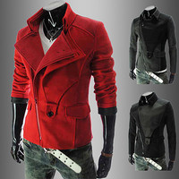 Modern Men Design Fashion Slim Fit Zip Jacket