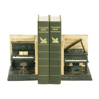 91-3708 Pair Dueling Piano Bookends