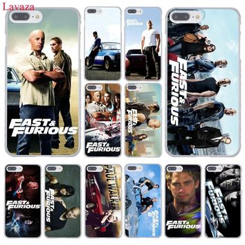 Lavaza Fast & Furious and Paul Walker Hard Coque Shell Phone Case for Apple iPhone 8 7 6 6S Plus X 10 5 5S SE 5C 4 4S Cover