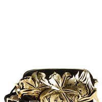 Marni Floral Suede & Leather Fanny Pack - Black