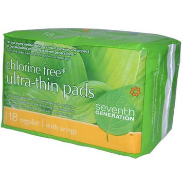 Seventh Generation Ultra Thin Regular Pads -12x18 CT-