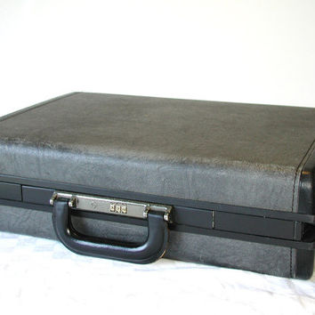 Vintage Samsonite Classic 5000 Briefcase  Marbled Gray Attache Case & Combination Lock