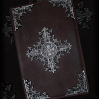 Handmade Gothic Grimoire, journal, notebook, spellbook, gothic book
