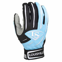 Louisville Slugger Series 5 Adult Batting Gloves Columbia Blue Black