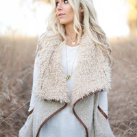 Fuzzy Wuzzy Vest-Oatmeal- In Stock!