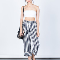 Bold Striped Culottes