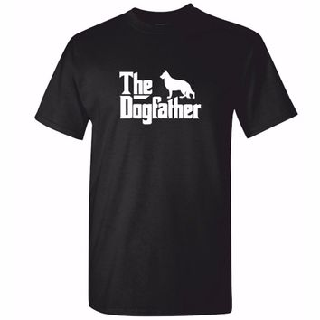 The Dogfather German Shepherd Dog T-Shirt - Men's Tops