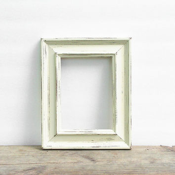 8.5x11 Solid Wood Rustic Picture Frame, Distressed Shabby Chic, Custom Sizes Available, 8 1/2 x 11 Wedding, Nursery, Bulk Frames, Signs