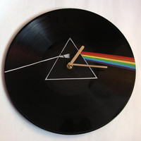Pink Floyd The Dark Side of the Moon vinyl record clock