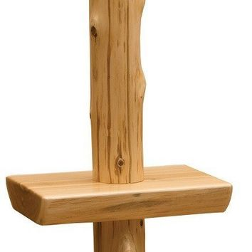Traditional Cedar Floor Lamp with Shelf