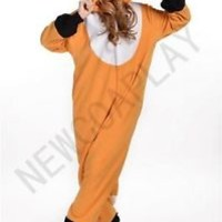 Fox Men Women Adult Pajamas Kigurumi Cosplay Costume Animal Onesuit Sleepwear