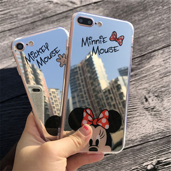 OPAL FERRIE - Mirror Cartoon Mickey Minnie Cases For iPhone
