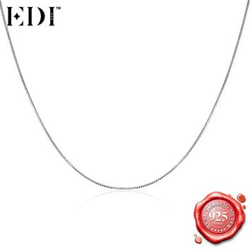 EDI Choker Necklace 925 Sterling Silver Chain Necklace for Women/Men Silver Halloween Fine Jewelry Accessories Pendant Necklace